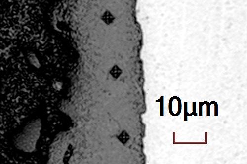 Plasmakeramik von CERANOD® gehört zu den härtesten Materialien der Welt. Harte Oberflächen zerkratzen weniger und bleiben länger scharf.